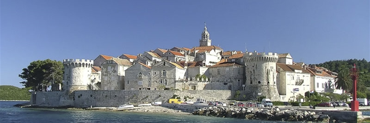 Korčula is an island in the Adriatic Sea, in the Dubrovnik-Neretva County of Croatia
