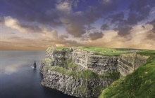 Ireland is an island in the Atlantic off the north-western coast of continental Europe
