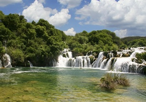 Krka is a river in Croatia's Dalmatia region, noted for its numerous waterfalls. It is 73...